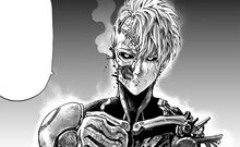Genos damaged from his bettle with G4