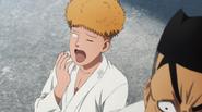 Saitanko yawns