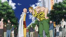 Tanktop Tiger taunts Saitama