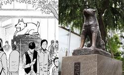 Watchdog Man Hachiko statue comparison