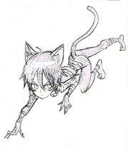 Sonic grimé en chat, par Murata
