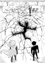 Saitama punches Ninja Village Leader into ground