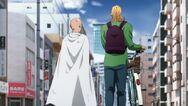 King et Saitama marchent ensemble