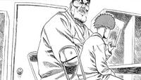 Saitama converse avec Grimasse