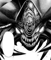 Grande Scolopendre Patriarche visage manga