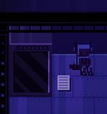 Записка, робот, ящик (картина масло)