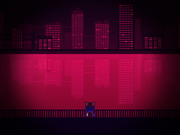 Niko looking at the city's buildings