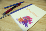 OneShot sticker on a notebook