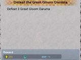Defeat the Great Gloom Daruma