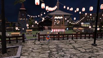Summer Yukata Festival Courtyard