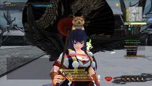 Onigiri black dragon umbrella