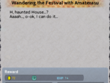 Wandering the Festival with Amaterasu