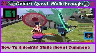 Onigiri Quest Walkthrough - How To Ride & Edit Skills Mount Summon - Part 61 🐲