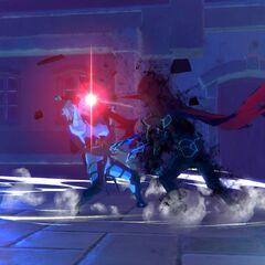 Kagachi battles the Night Devil