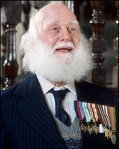 Albert with his medals