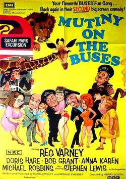 Mutiny On The Buses (movie) poster