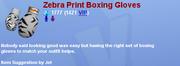 ZebraPrintBoxingGloves