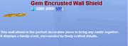 Gem Encrusted Wall Shield