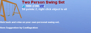 Two Person Swing Set