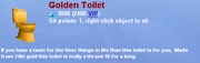Golden Toilet