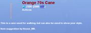 Orange70sCane