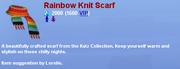 RainbowKnitScarf