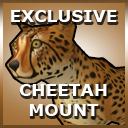 Cheetah mount