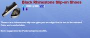 BlackRhinestoneSliponShoes