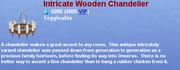 Intricate Wooden Chandelier