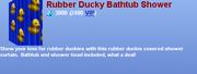 Rubber Ducky Bathtub Shower