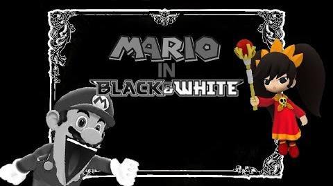 SM64 Bloopers Mario in Black and White