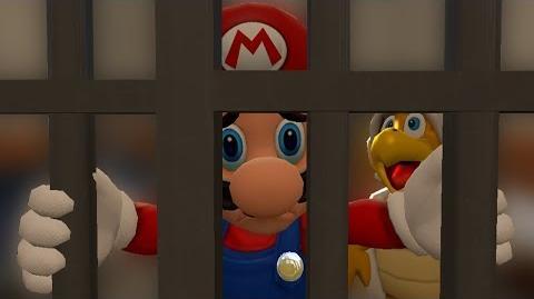 SM64 Bloopers Mario Behind Bars