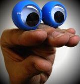Oobi Hand Puppet - Blue Googly Eyes