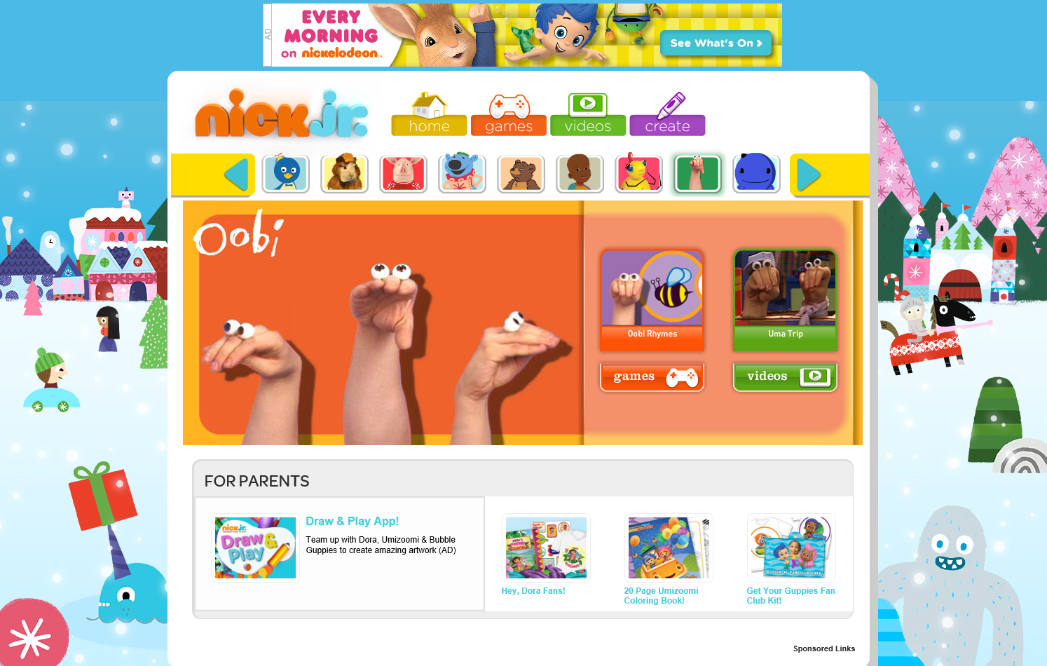 NickJr.com | Oobi Wiki | FANDOM powered by Wikia