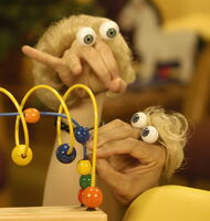 Oobi Chauncy and Mother - Noggin Nick Jr Hand Puppet Characters