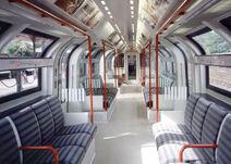 London Underground 1986 Stock (Red) -Inside-