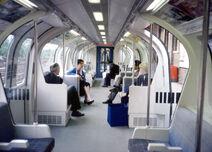 London Underground 1986 Stock (Blue) -Inside-