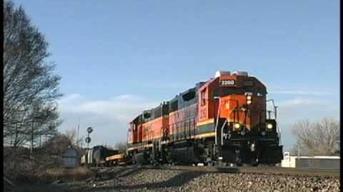 Freshly Painted BNSF GP38-2 Diesels in Colorado Springs
