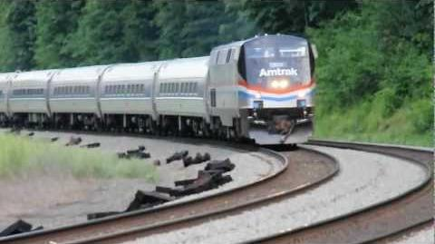 Amtrak 43 (Engine 822) near Tyrone, PA 7 2 2012