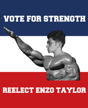 Enzo for Reelection Poster Complete