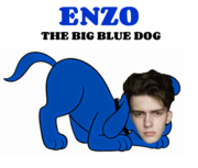 POWER Enzo the Big Blue Dog Text