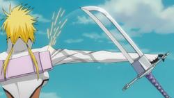 5. Nano unsheathing her sword