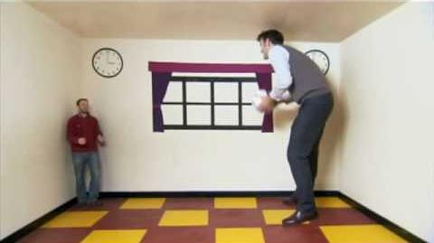 Ames Room Optical Illusion