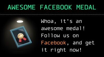 Awesome Facebook Medal