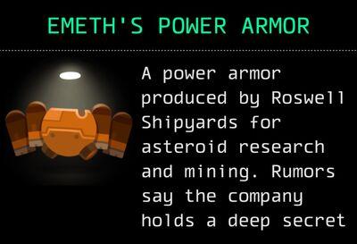 Emeth's Power Armor