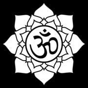 Lotus aum black white line art tattoo tatoo flag-555px