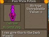 Full Wica Potion