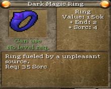 Dark magic ring tooltip