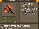 Burning Battleaxe