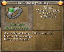 Dark range ring tooltip